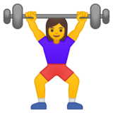 Woman Lifting Weights on Google Android 8.0