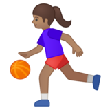 Woman Bouncing Ball: Medium Skin Tone on Google Android 8.0