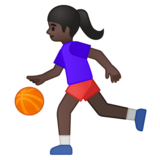 Woman Bouncing Ball: Dark Skin Tone on Google Android 8.0