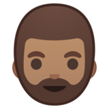 Man: Medium Skin Tone, Beard on Google Android 8.1