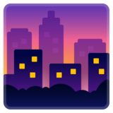 Cityscape at Dusk on Google Android 8.1