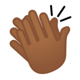 Clapping Hands: Medium-Dark Skin Tone on Google Android 8.1