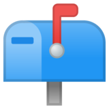 Closed Mailbox with Raised Flag on Google Android 8.1