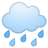 Cloud with Rain on Google Android 8.1