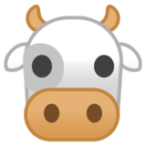 Cow Face on Google Android 8.1