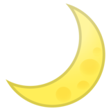 Crescent Moon on Google Android 8.1