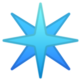Eight-Spoked Asterisk on Google Android 8.1