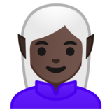 Elf: Dark Skin Tone on Google Android 8.1