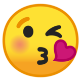 Face Blowing a Kiss on Google Android 8.1