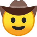 Cowboy Hat Face on Google Android 8.1