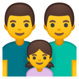 Family: Man, Man, Girl on Google Android 8.1