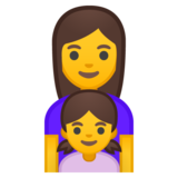Family: Woman, Girl on Google Android 8.1