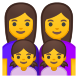Family: Woman, Woman, Girl, Girl on Google Android 8.1