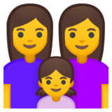Family: Woman, Woman, Girl on Google Android 8.1
