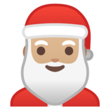 Santa Claus: Medium-Light Skin Tone on Google Android 8.1
