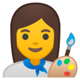 Woman Artist on Google Android 8.1