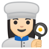 Woman Cook: Light Skin Tone on Google Android 8.1