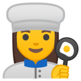 Woman Cook on Google Android 8.1