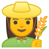 Woman Farmer on Google Android 8.1