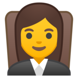 Woman Judge on Google Android 8.1