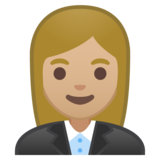 Woman Office Worker: Medium-Light Skin Tone on Google Android 8.1