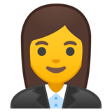 Woman Office Worker on Google Android 8.1