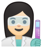 Woman Scientist: Light Skin Tone on Google Android 8.1