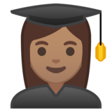 Woman Student: Medium Skin Tone on Google Android 8.1