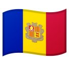 Flag: Andorra on Google Android 8.1