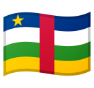 Flag: Central African Republic on Google Android 8.1