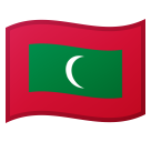 Flag: Maldives on Google Android 8.1
