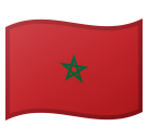 Flag: Morocco on Google Android 8.1