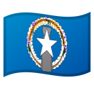 Flag: Northern Mariana Islands on Google Android 8.1