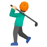 Person Golfing: Light Skin Tone on Google Android 8.1
