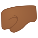 Left-Facing Fist: Medium-Dark Skin Tone on Google Android 8.1