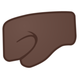 Left-Facing Fist: Dark Skin Tone on Google Android 8.1