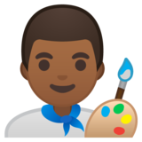 Man Artist: Medium-Dark Skin Tone on Google Android 8.1