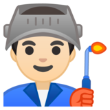 Man Factory Worker: Light Skin Tone on Google Android 8.1