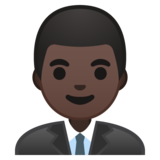 Man Office Worker: Dark Skin Tone on Google Android 8.1