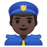 Man Police Officer: Dark Skin Tone on Google Android 8.1