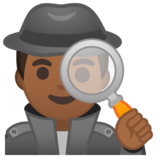 Man Detective: Medium-Dark Skin Tone on Google Android 8.1