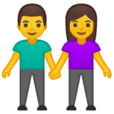 Woman and Man Holding Hands on Google Android 8.1