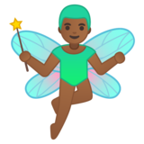 Man Fairy: Medium-Dark Skin Tone on Google Android 8.1