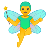 Man Fairy on Google Android 8.1