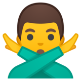 Man Gesturing No on Google Android 8.1