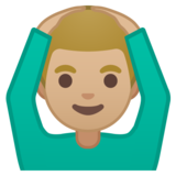 Man Gesturing OK: Medium-Light Skin Tone on Google Android 8.1