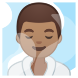 Man in Steamy Room: Medium Skin Tone on Google Android 8.1