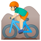 Man Mountain Biking: Light Skin Tone on Google Android 8.1
