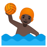 Man Playing Water Polo: Dark Skin Tone on Google Android 8.1