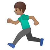 Man Running: Medium Skin Tone on Google Android 8.1